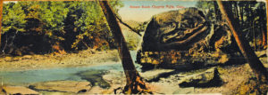 Color postcard of Squaw Rock