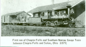 Chagrin Falls and Narrow Gauge RR Engine