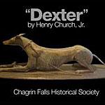 Cast iron Greyhound statue poster